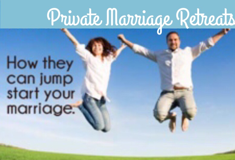 Couple jumping up for Marriage Retreats