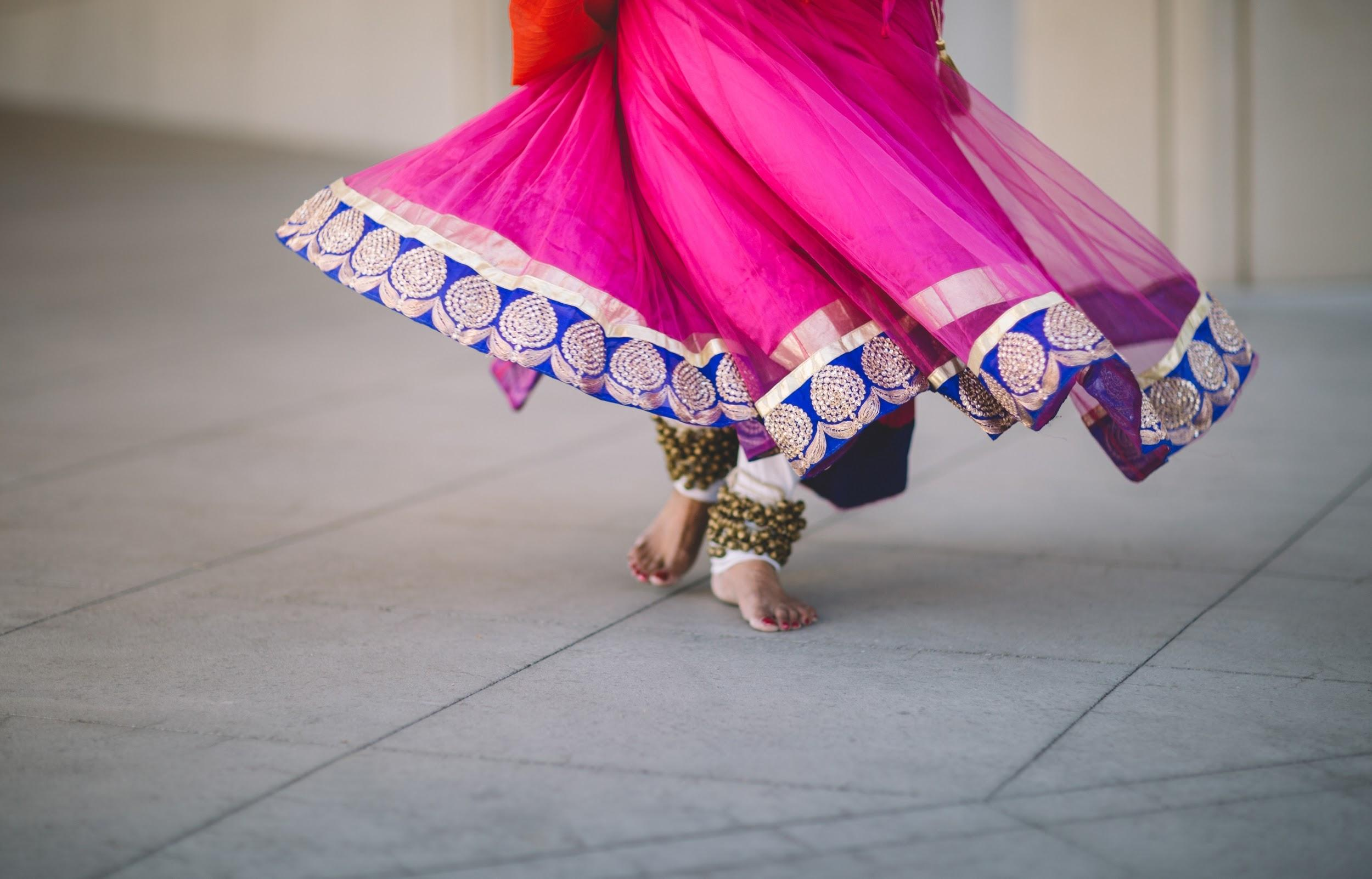 Girl's Feet in India Dancing
